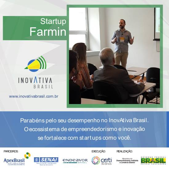 FARMIN apresenta na maior banca de startups do país no Demoday InovAtiva 2015